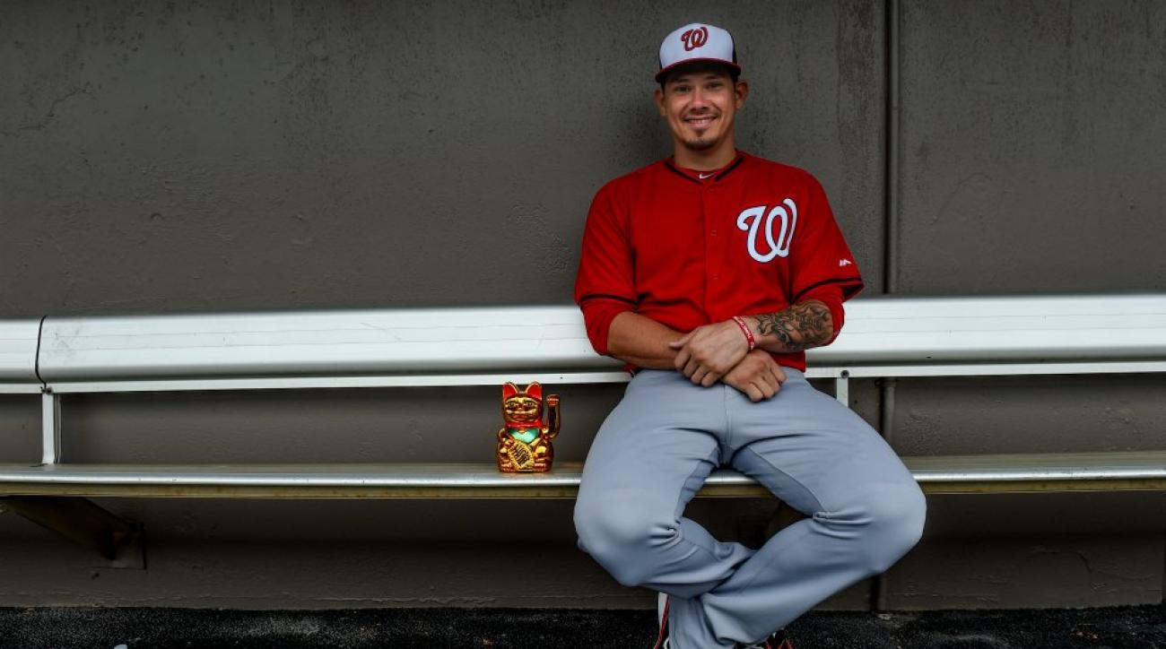 Nationals' Jose Lobaton's lucky cat figurine has a name