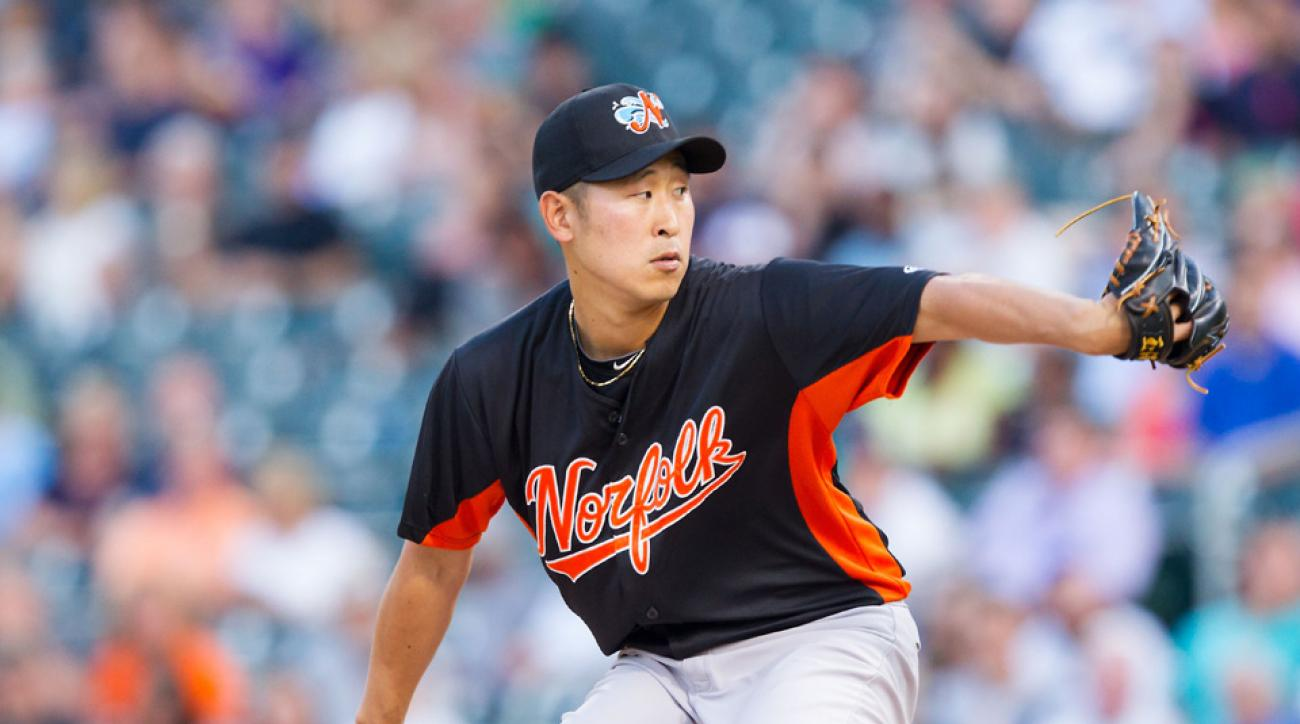 Orioles release pitcher Suk-min Yoon