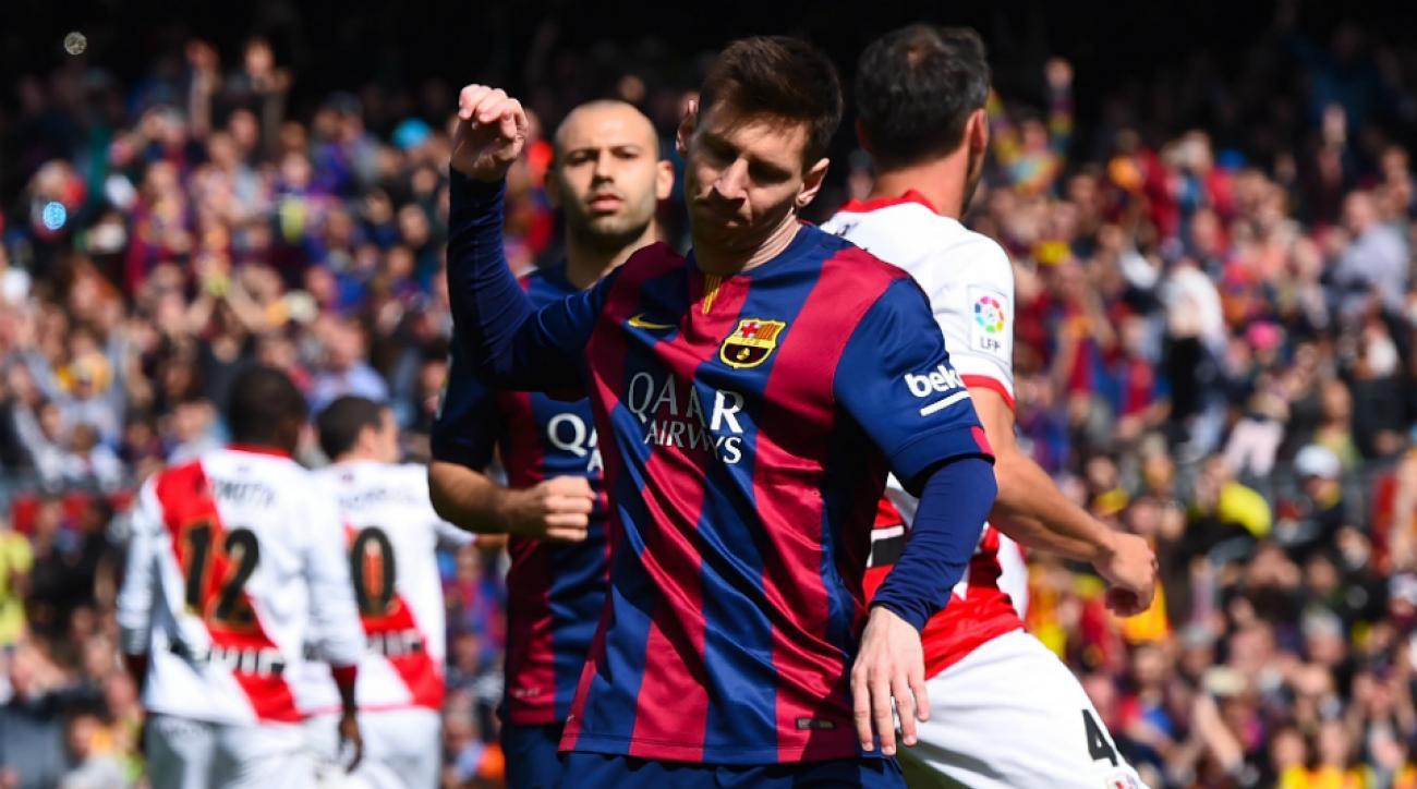 Barcelona Rayo Lionel Messi