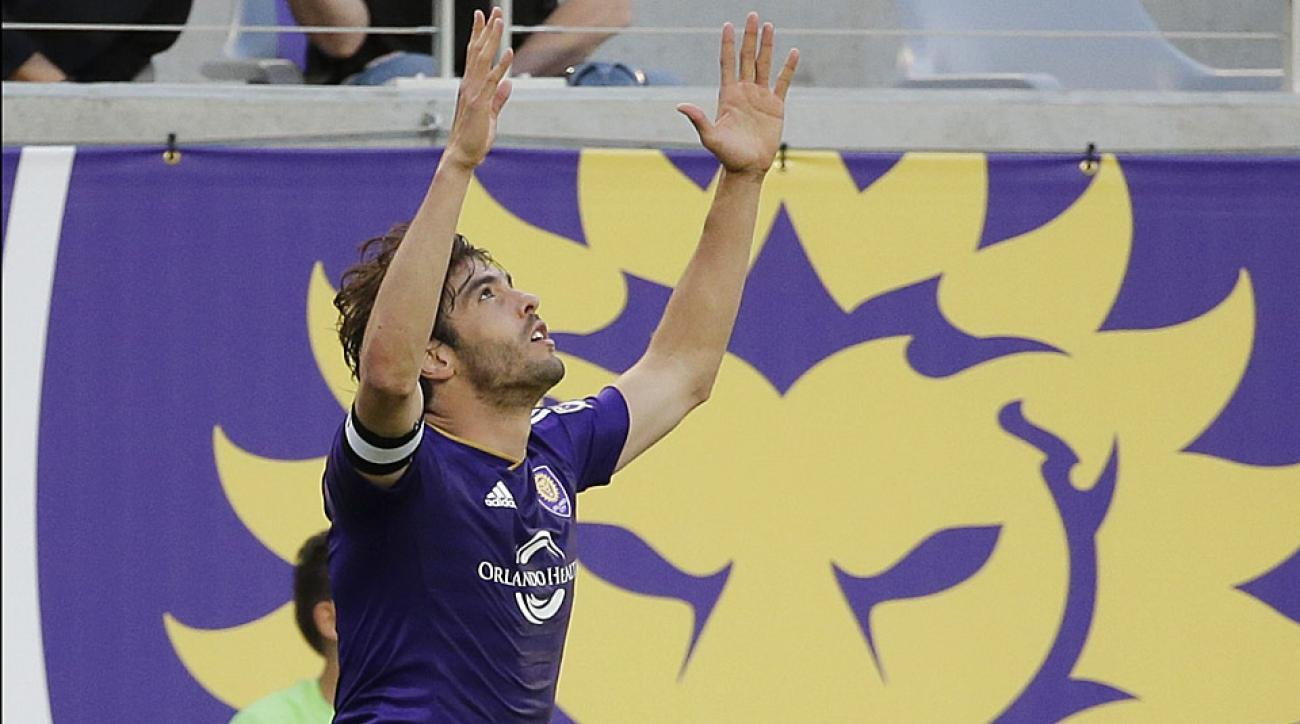 Kaka's 91st-minute equalizer earned Orlando City a point in its inaugural MLS match.