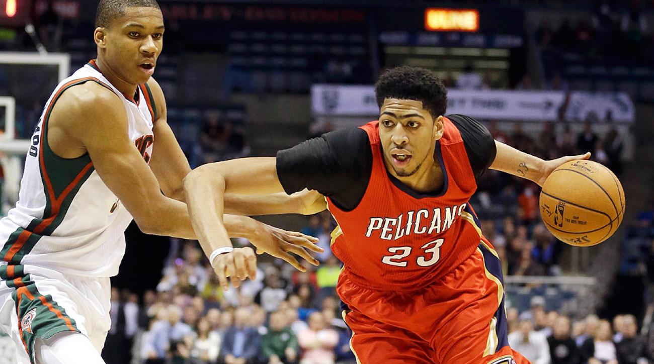 Anthony Davis tied a career high with 43 points in a win against the Bucks.