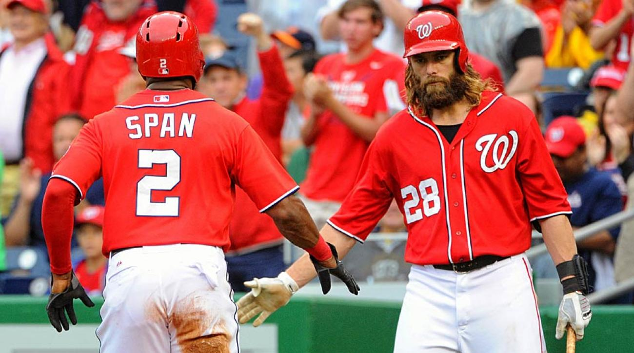Denard Span Jayson Werth Washington Nationals