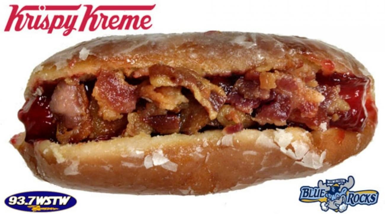 Minor league team debuts Krispy Kreme donut hot dog