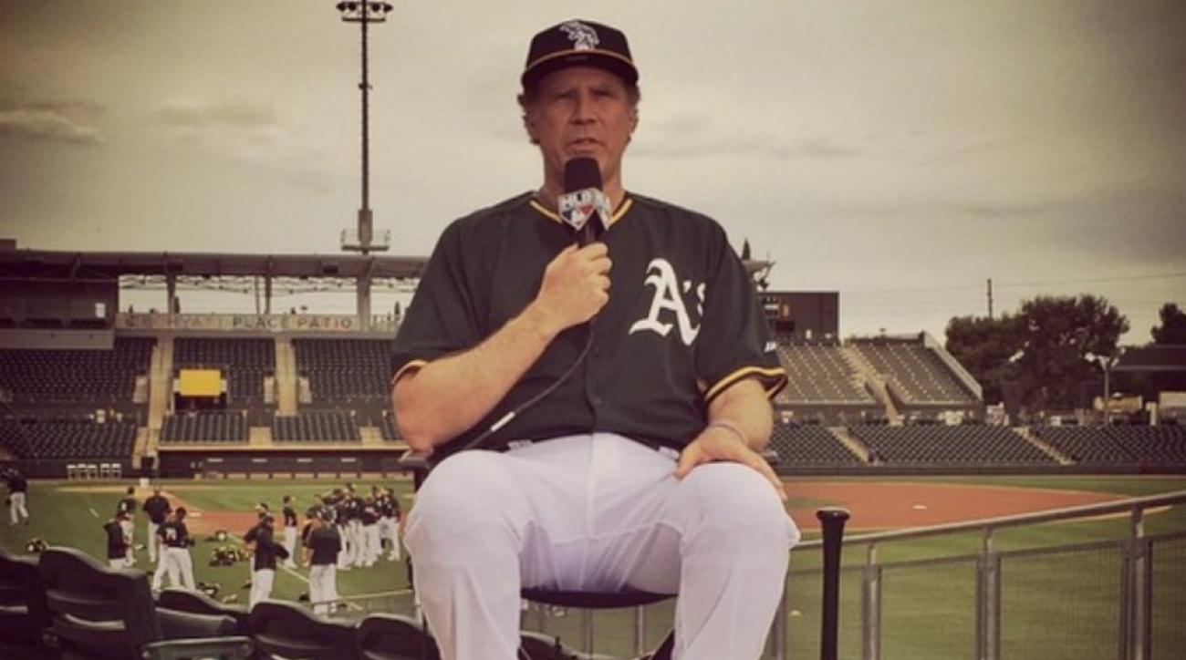 Will Ferrell spring training Oakland A's