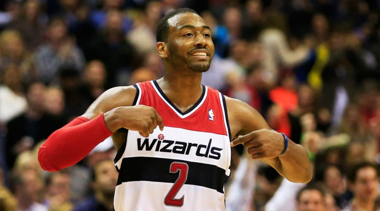 Wizards' John Wall has unconventional bowling style