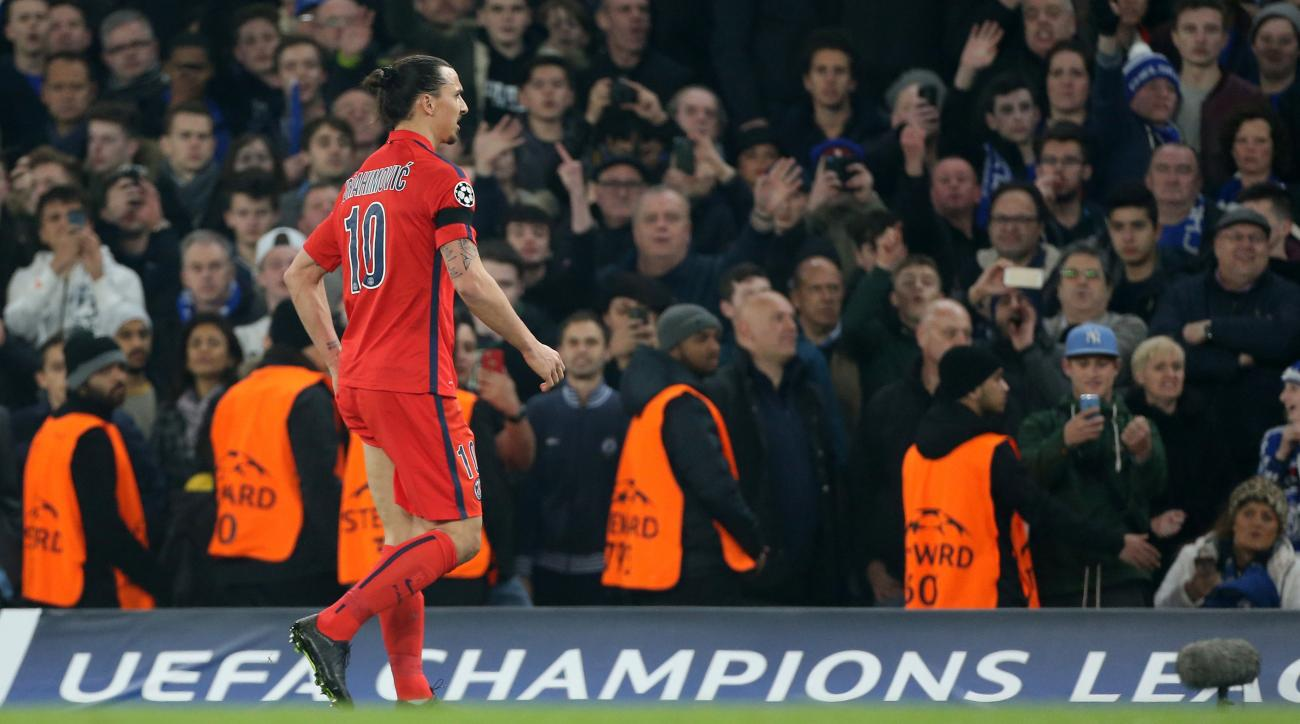 Zlatan Ibrahimovic red card