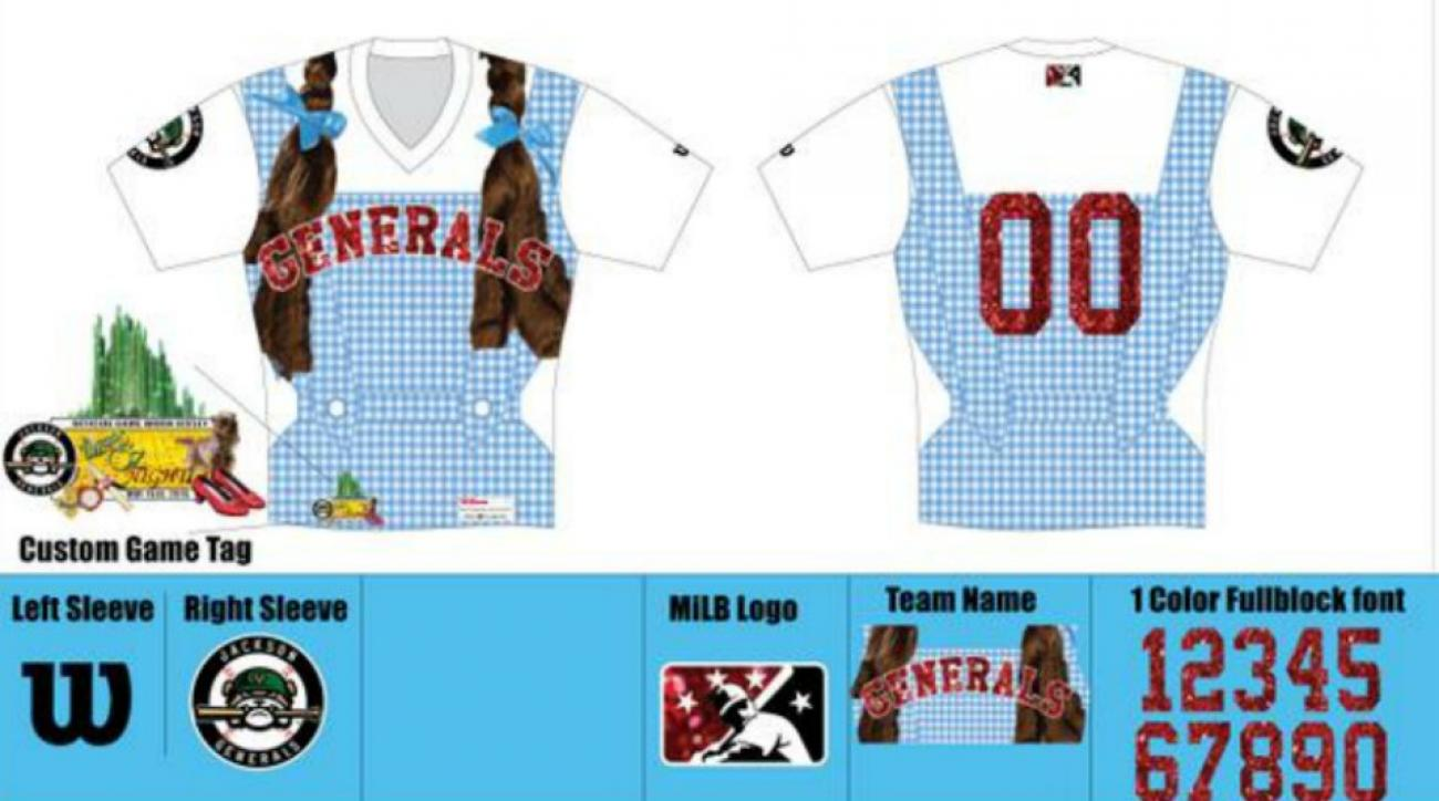 Jackson Generals will wear Dorothy inspired jerseys for Wizard of Oz night