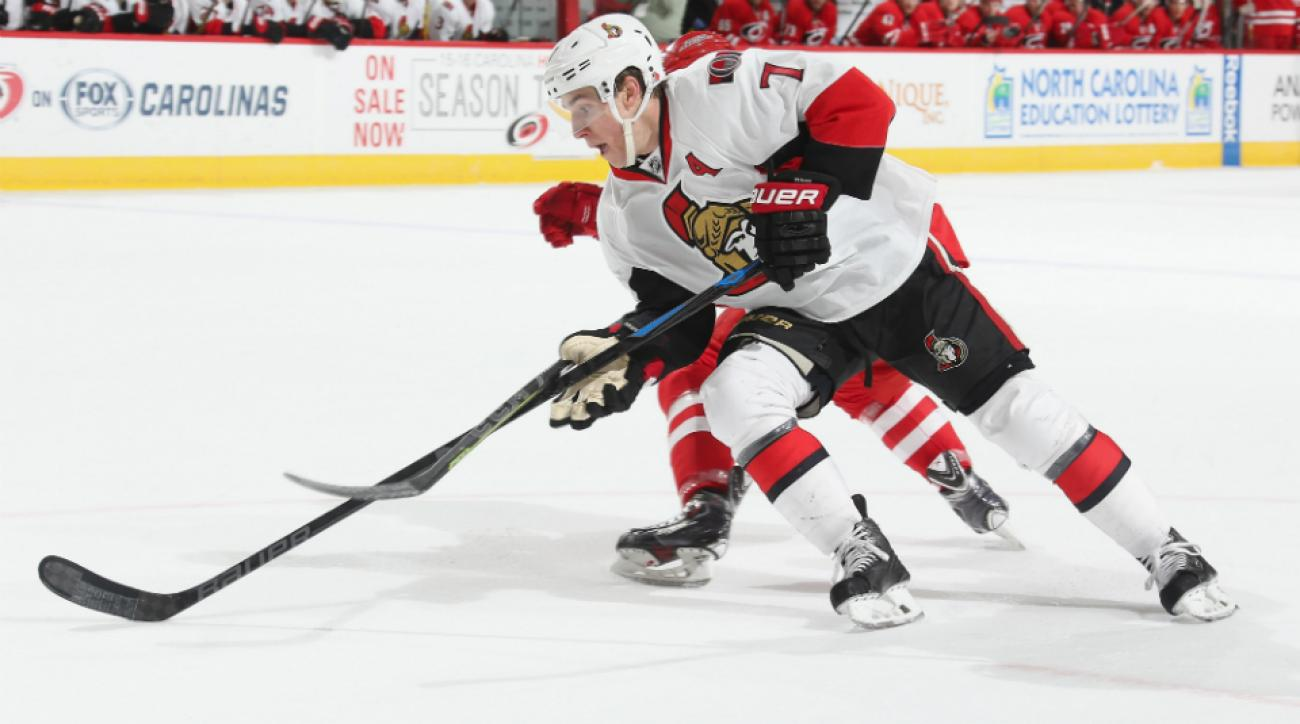 kyle turris assist senators hurricanes