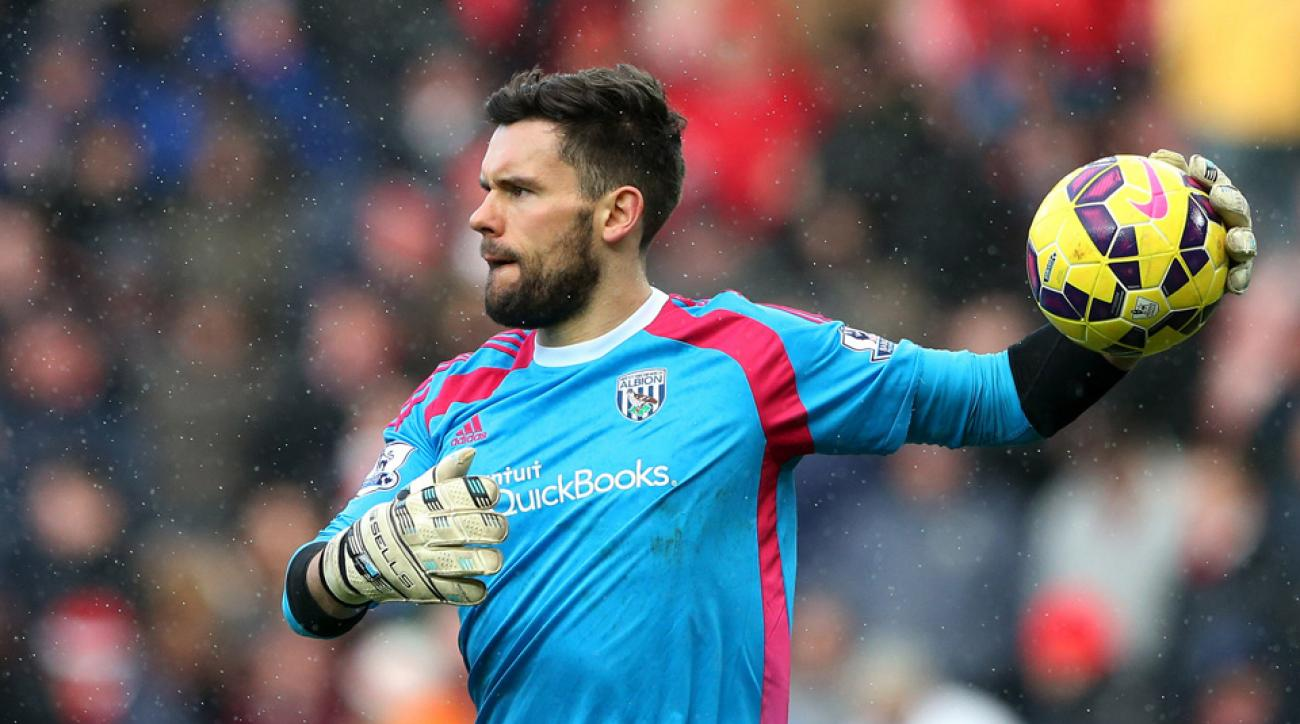 West Brom's Ben Foster out 4 weeks with knee injury