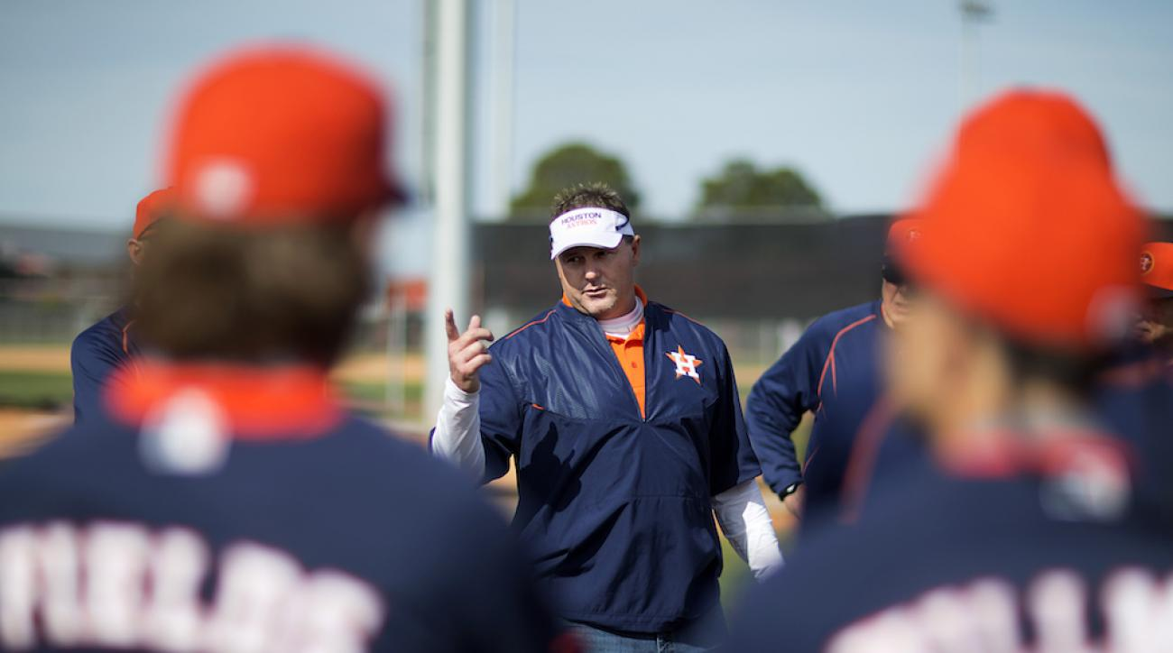 Roger Clemens at Houston Astros spring training in February, serving as special assistant to the general manager.