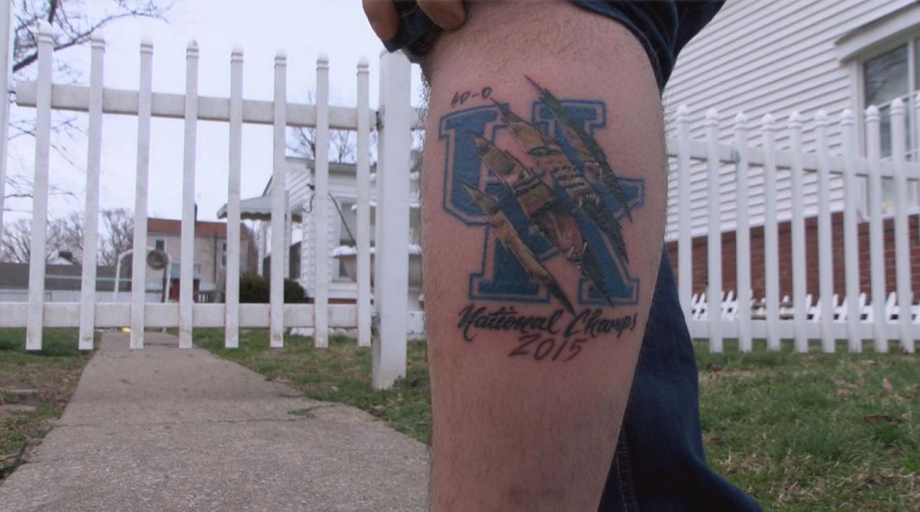 Kentucky fan tattoo