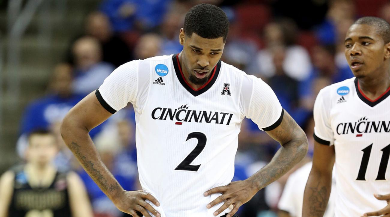 Octavius Ellis was ejected in Cincinnati's March Madness game against Purdue.