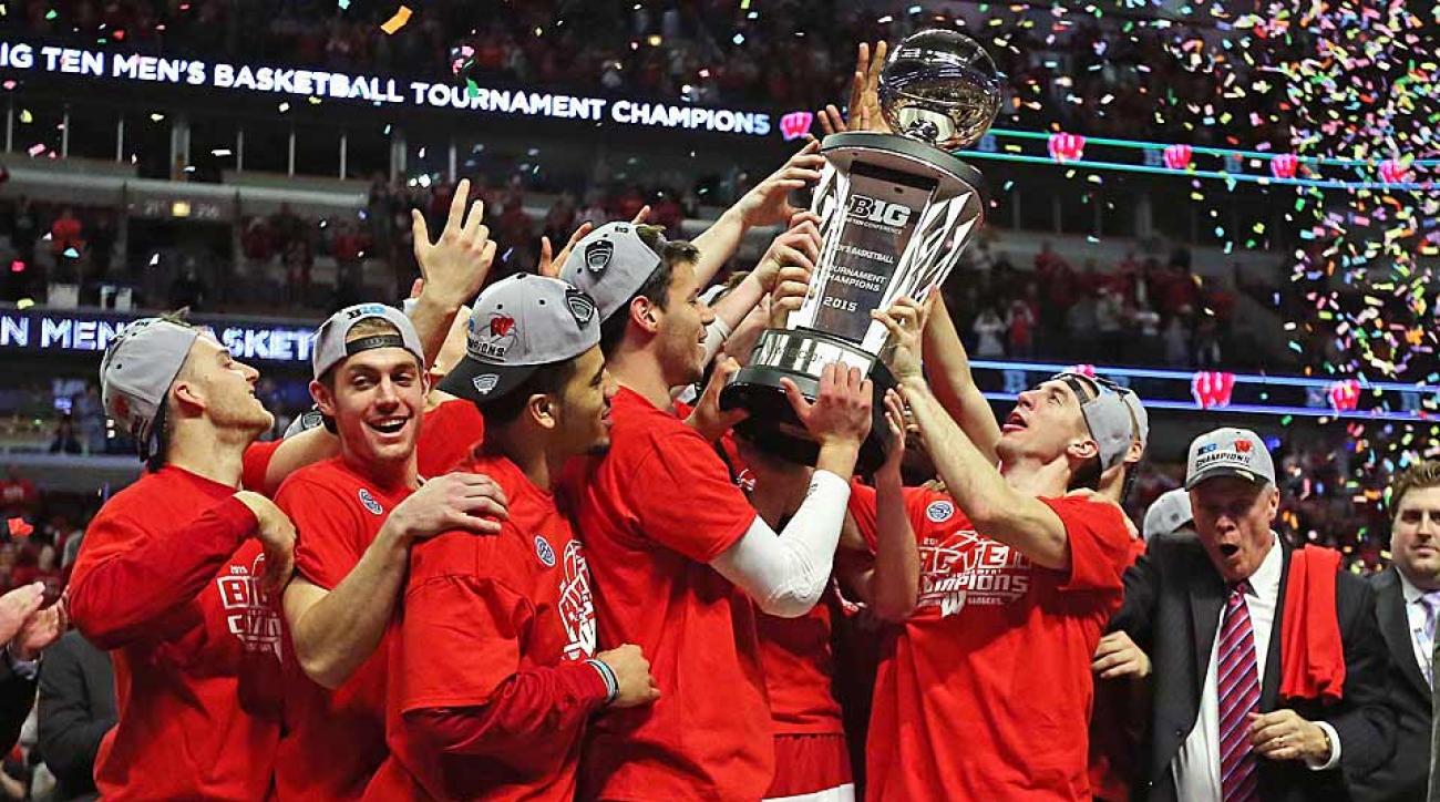 Wisconsin celebrates Big Ten title
