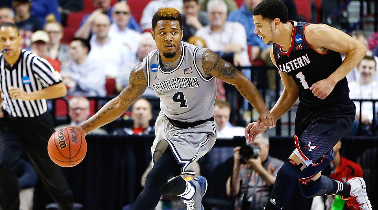 Georgetown held off Eastern Washington to advance to the NCAA third round.