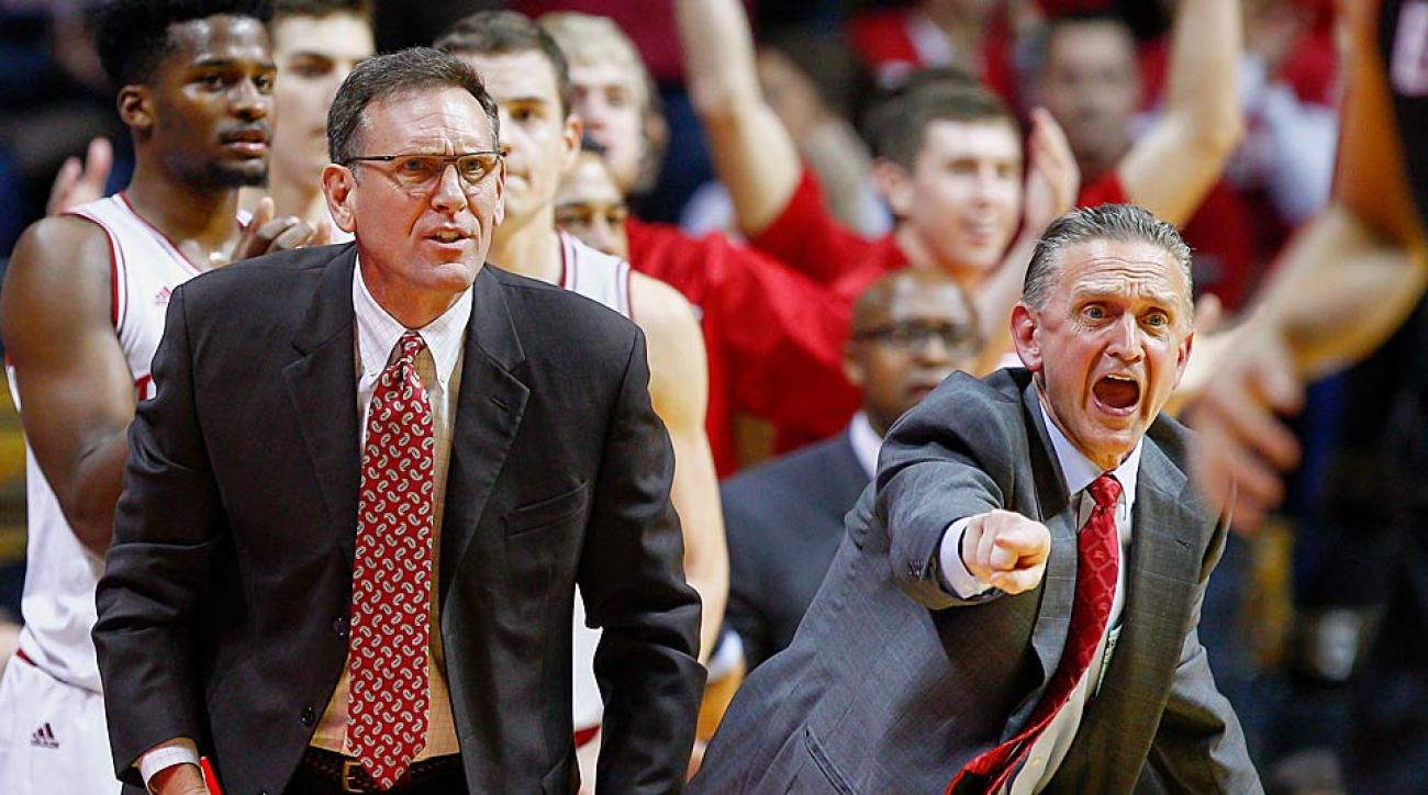 Indiana assistant coach Steve McClain (right) will be the head coach at Illinois-Chicago