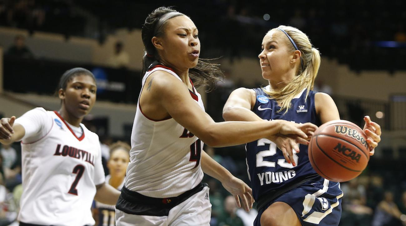 byu womens player makenzi morrison thrown to ground ncaa tournament