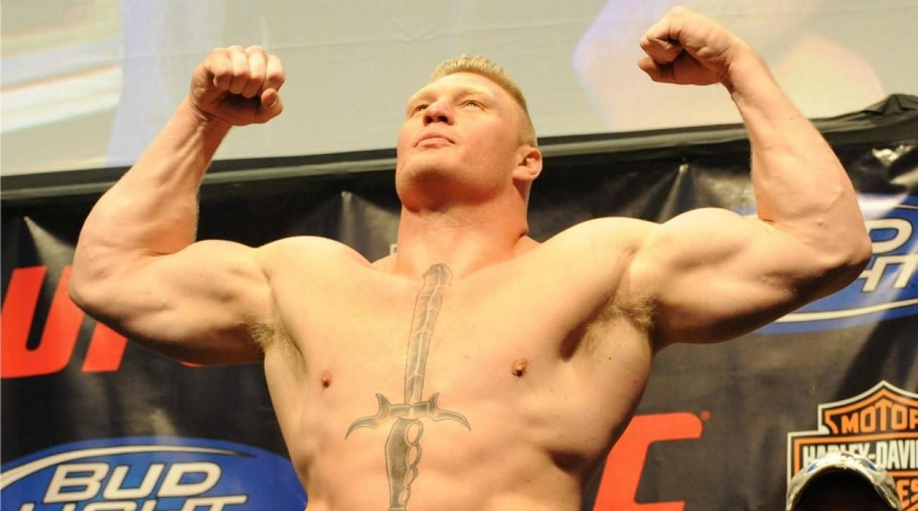 Before the WWE, Brock Lesnar was just a regular college superhuman