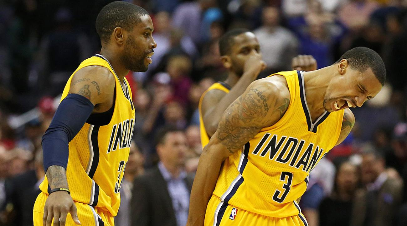Pacers' George Hill hit a game-winning layup to beat the Wizards on Wednesday.