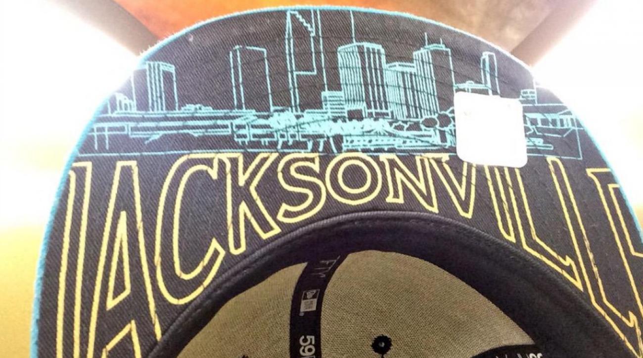 Jacksonville Jaguars  NFL draft hat has the wrong skyline  f0c7925efe1
