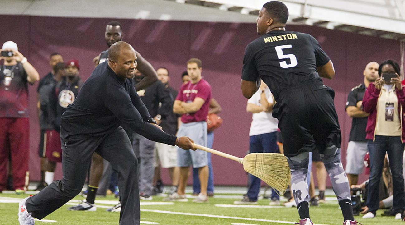 For Jameis Winston, pro day was all about taking as many snaps as possible