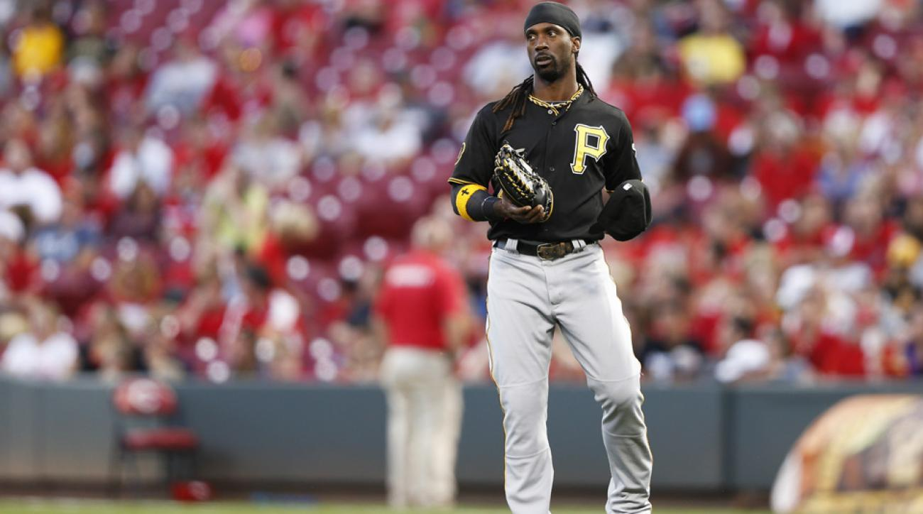 Andrew McCutchen left the Pittsburgh Pirates' spring training game with an apparent injury.
