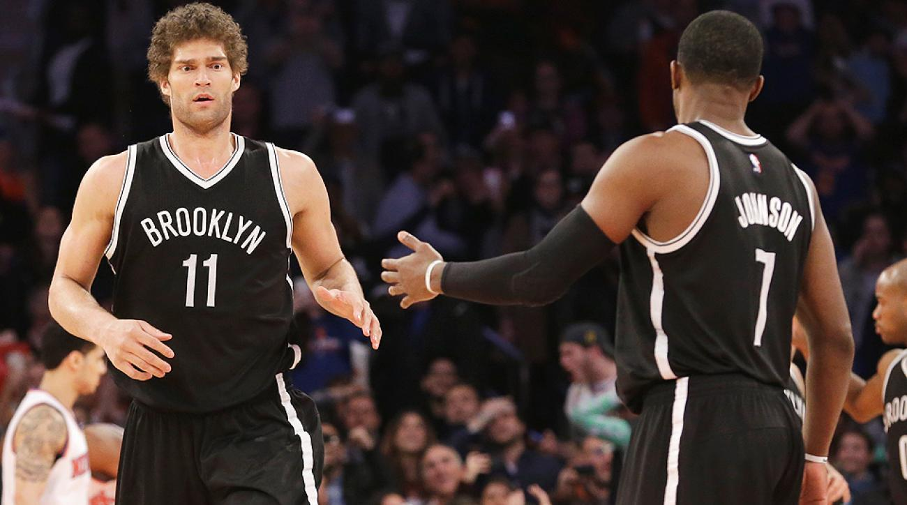 Brook Lopez hit a game-winning layup to beat the Knicks.