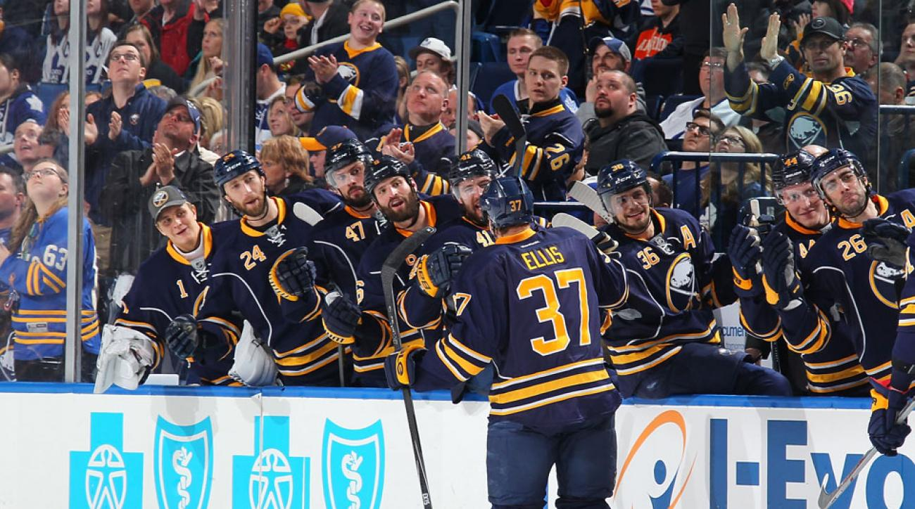 The Buffalo Sabres celebrated a win over the Toronto Maple Leafs with some Drake.