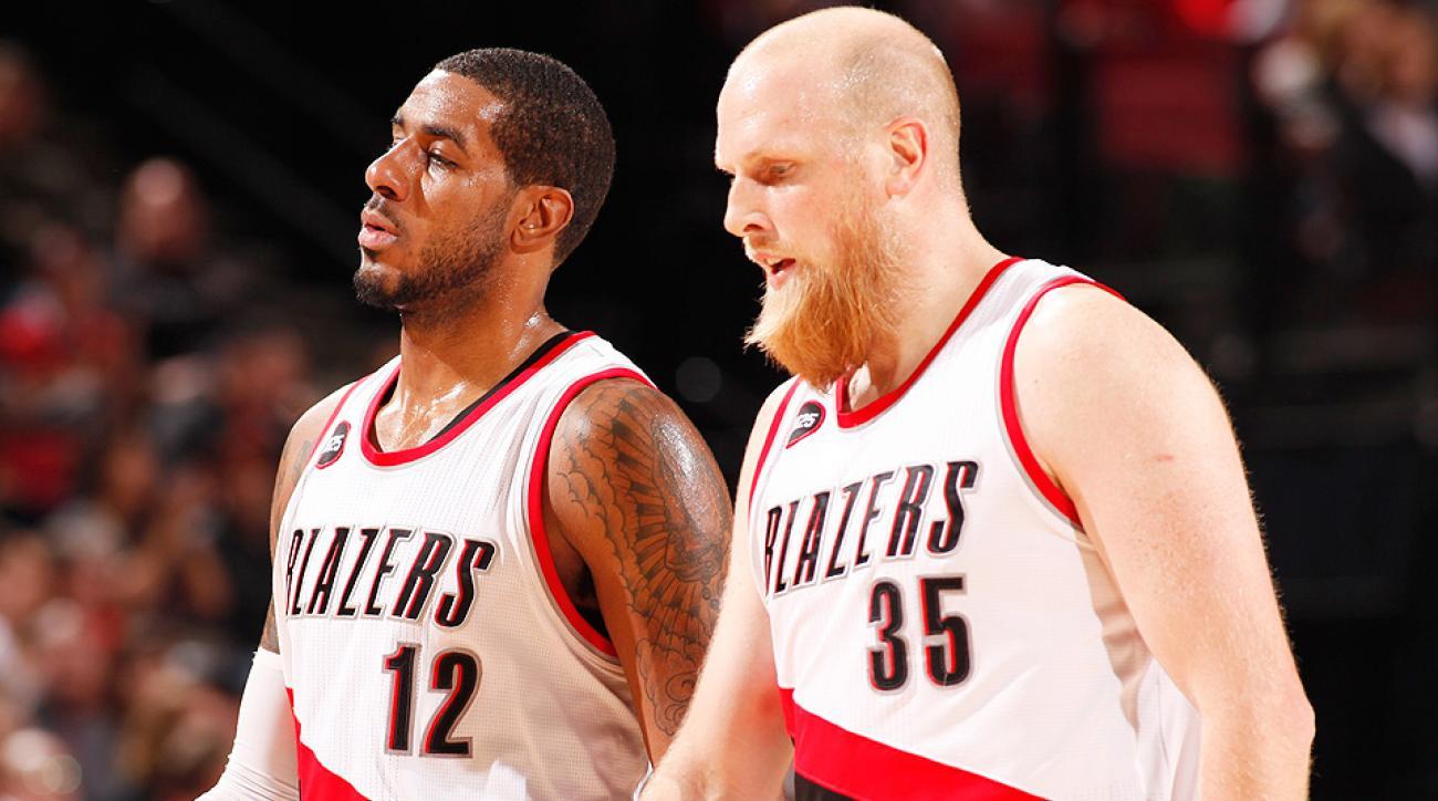 Video Blazers Chris Kaman shoves Clippers Chris Paul