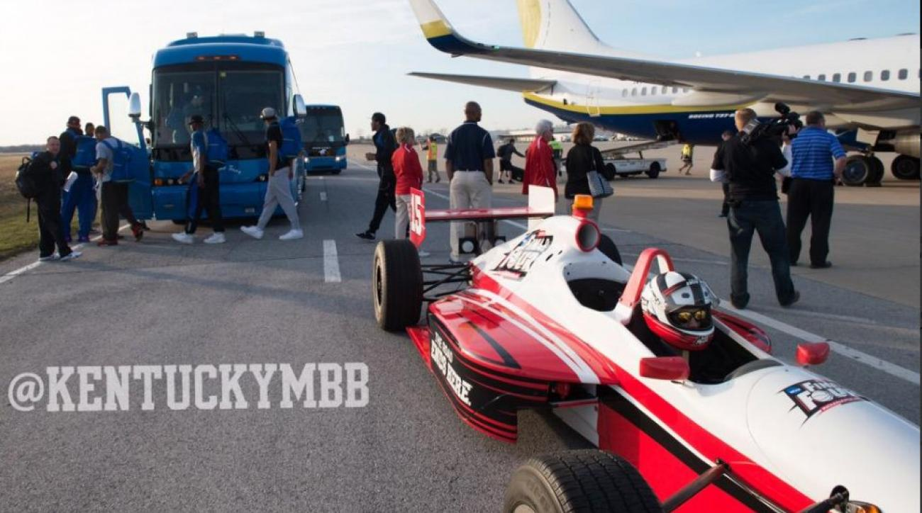 Final Four teams get Indy Car escort