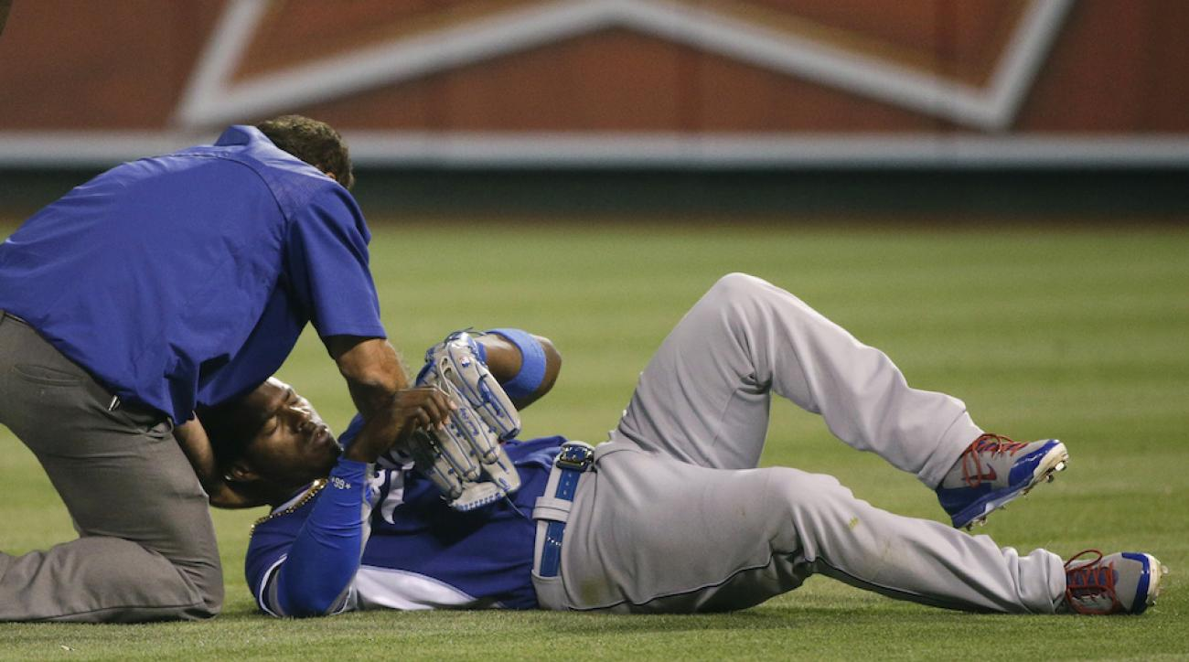Yasiel Puig injured howie kendrick dodgers spring training