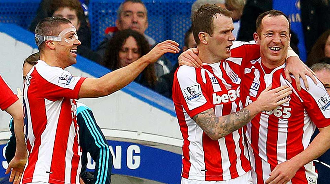 Charlie Adam goal celebration Stoke City