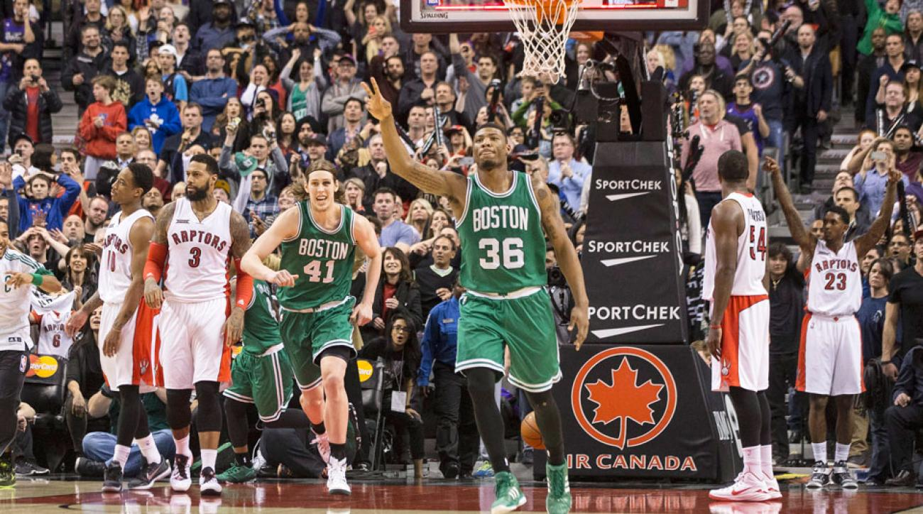 Marcus Smart's buzzer beater put the Celtics back in the eighth spot.