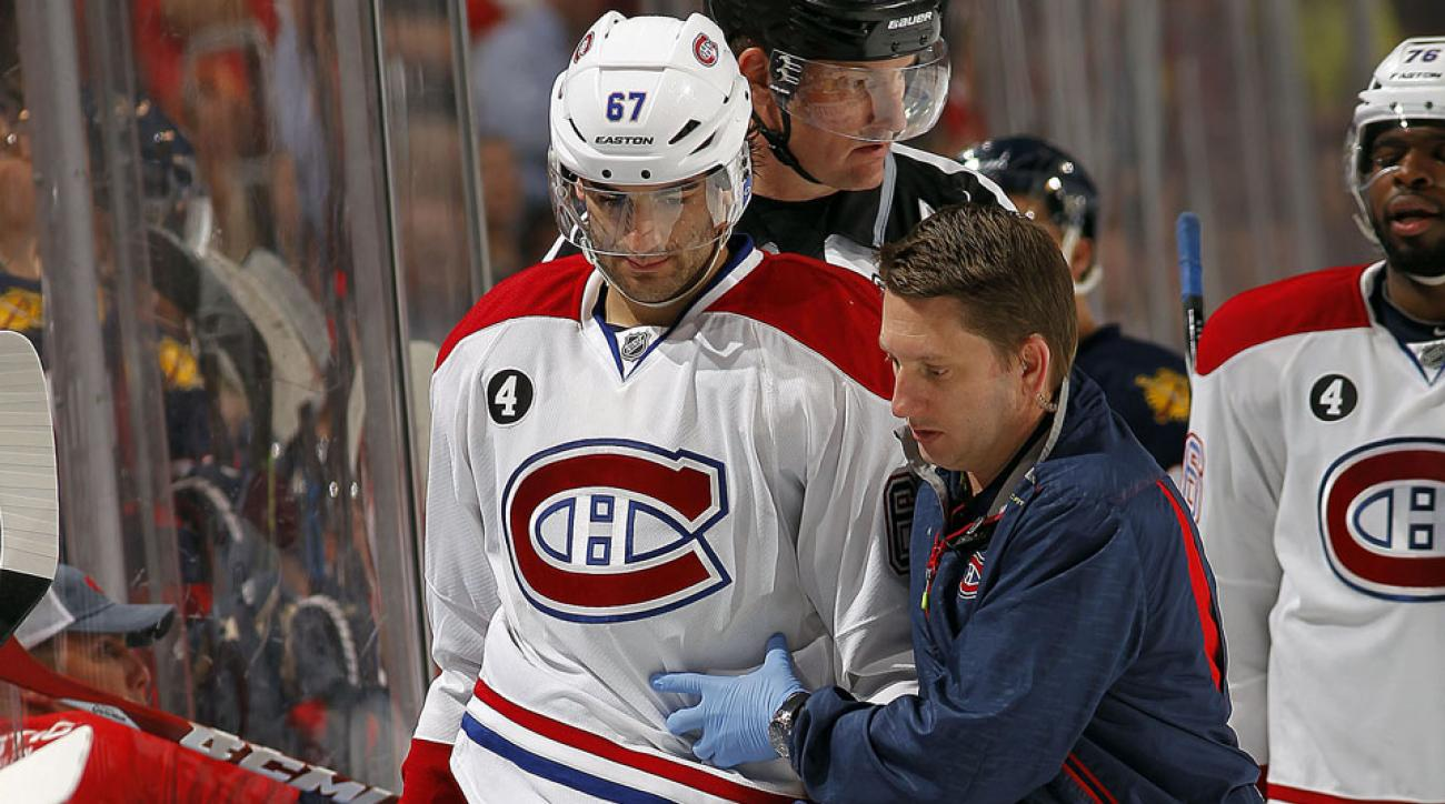 Max Pacioretty was injured after smashing his head into the boards during the Montreal Canadiens' game against the Florida Panthers.
