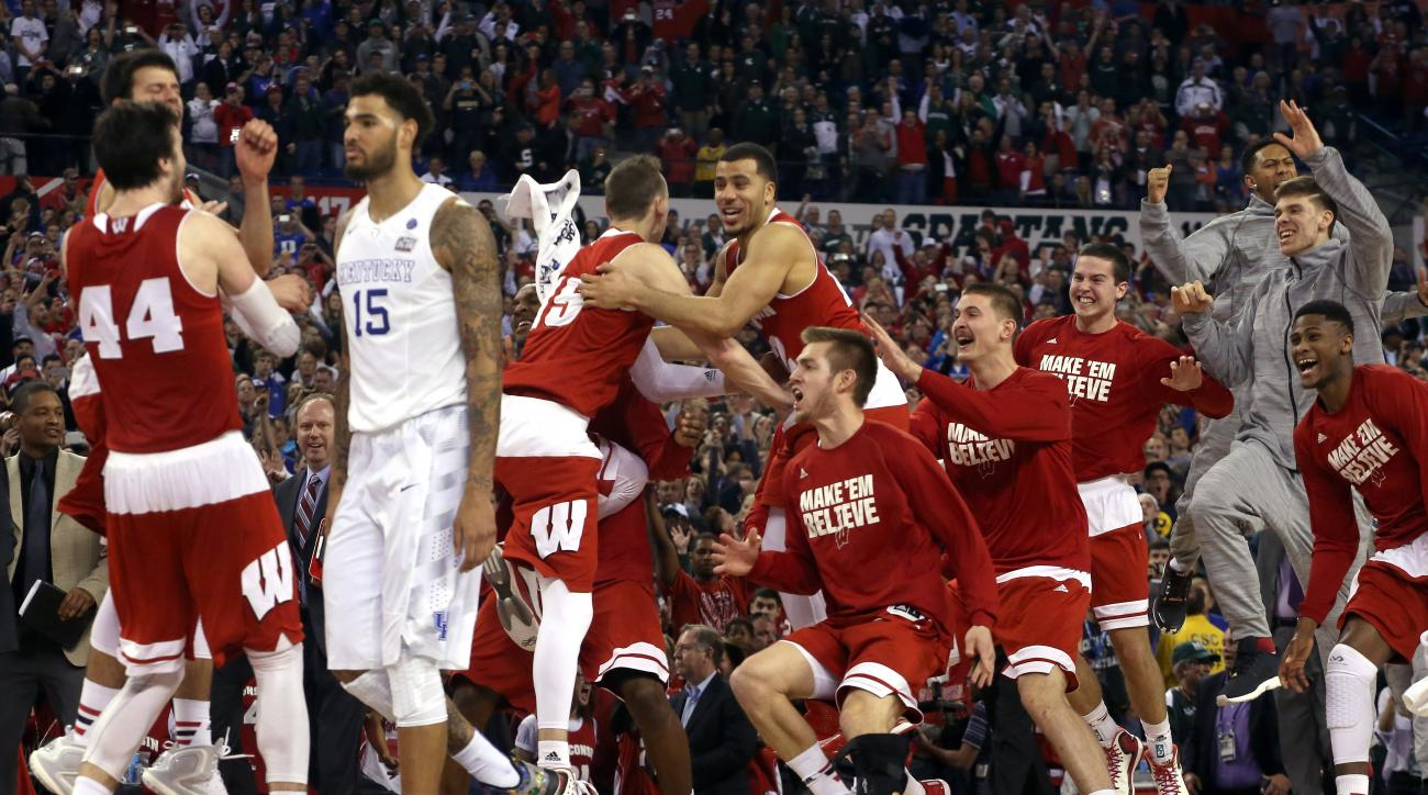 Wisconsin Badgers Final Four Kentucky Miracle on Ice team