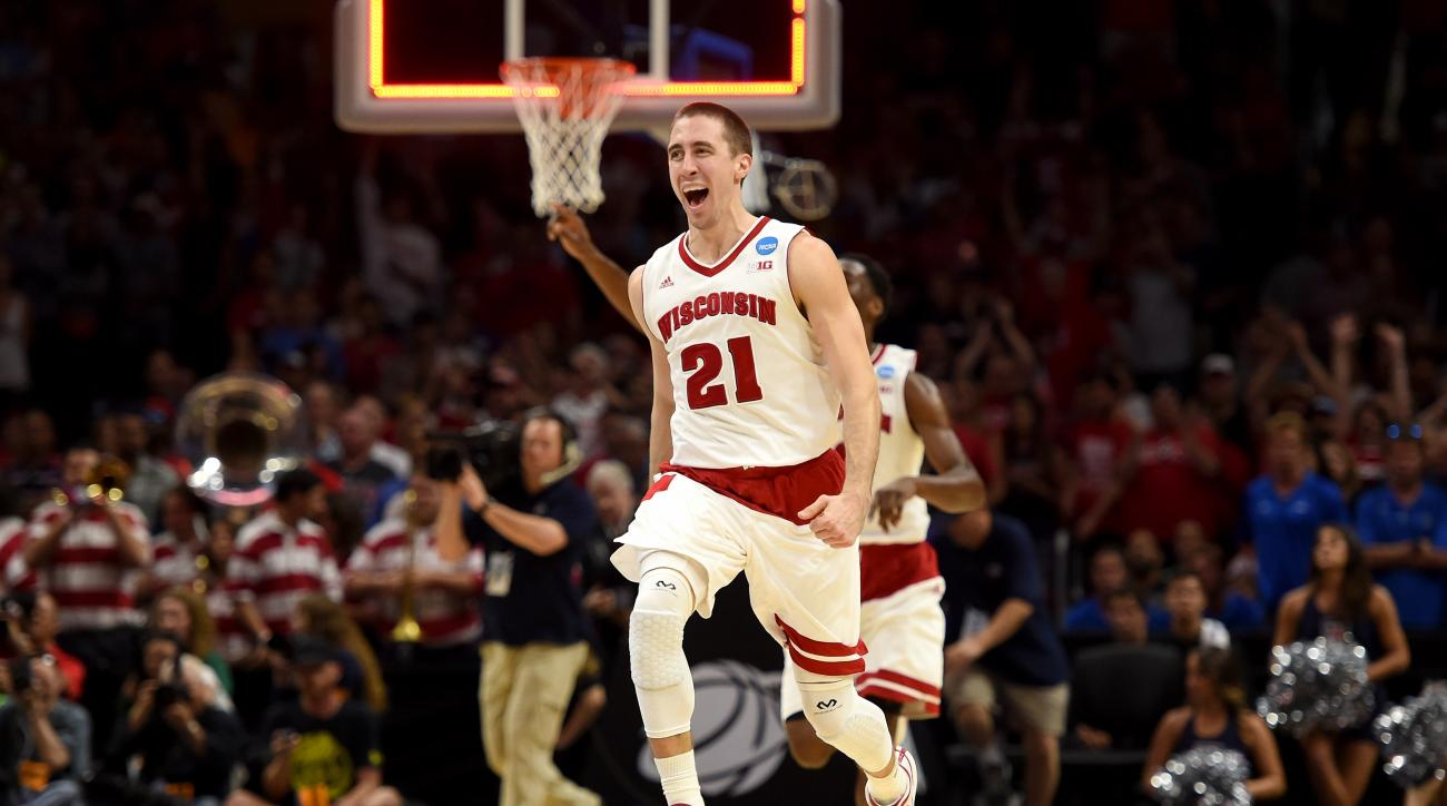 Josh Gasser Wisconsin vs Duke contact eye