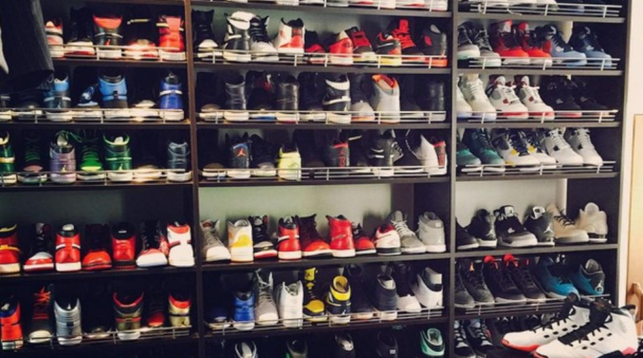 Ray Allen shows off his Jordan collection in shoe closet