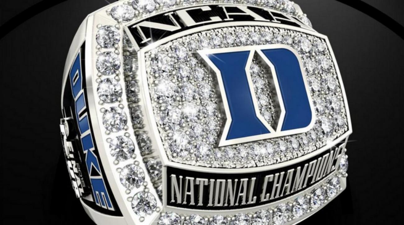 Duke national championship rings