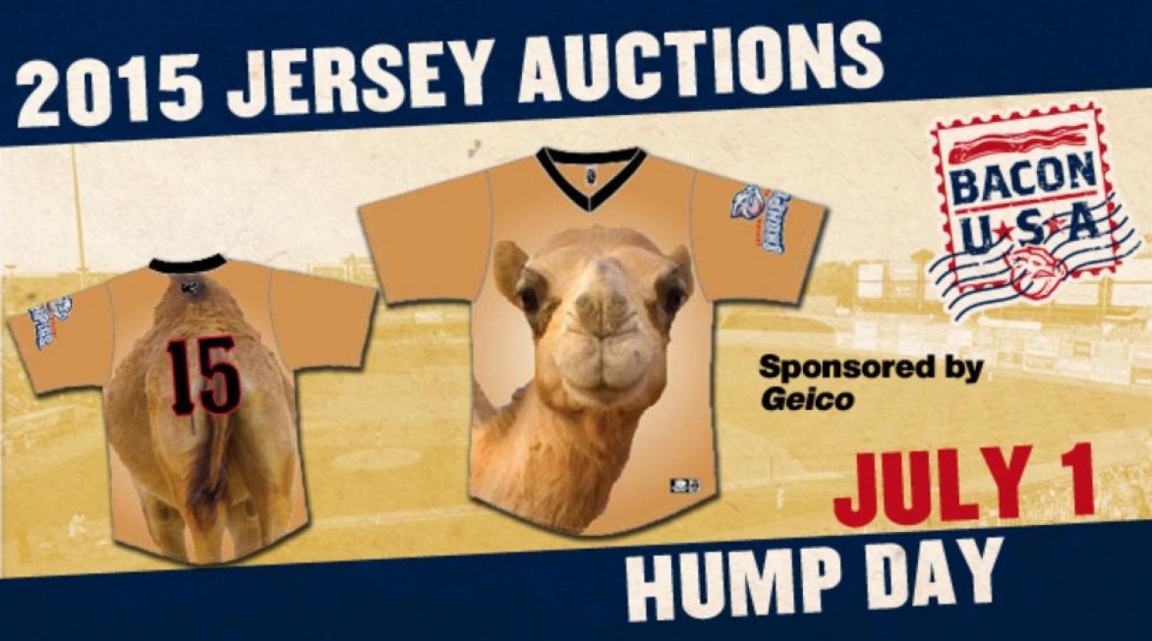 Minor league team will wear Hump Day camel jerseys