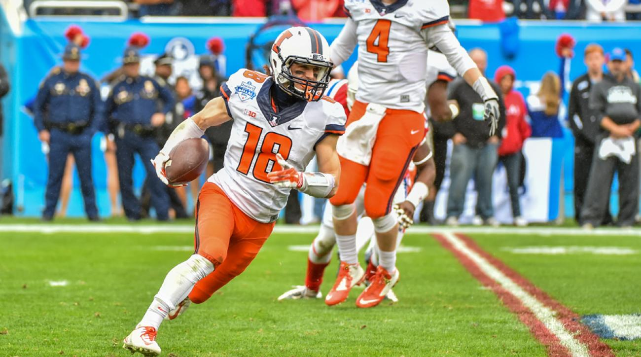 Illinois wide receiver coach suspended mike dudek all american