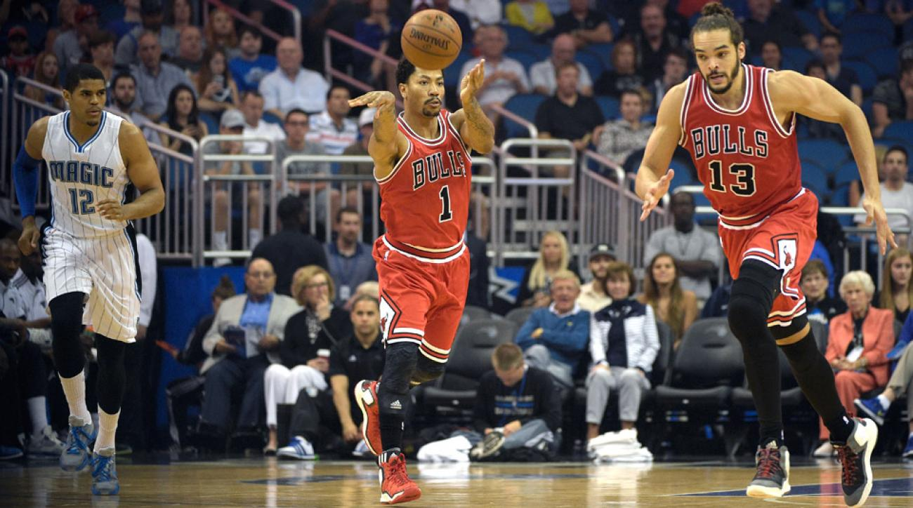 Derrick Rose scored nine points Wednesday night in his return against the Magic.