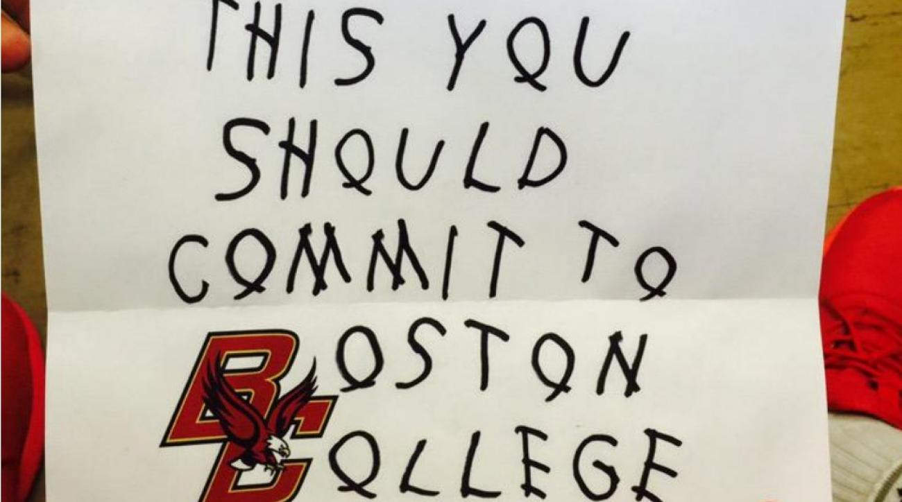Boston College using Drake album to recruit