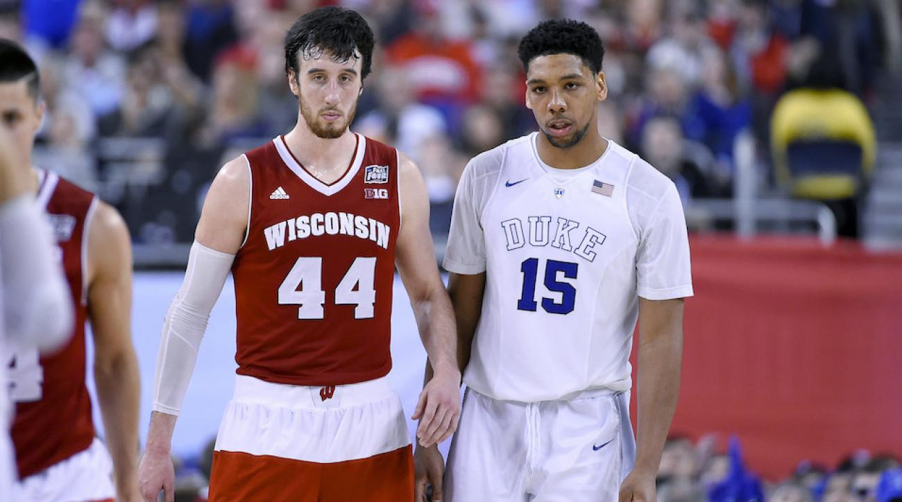 Frank Kaminsky Jahlil Okafor Wisconsin Duke ncaa tournament dance