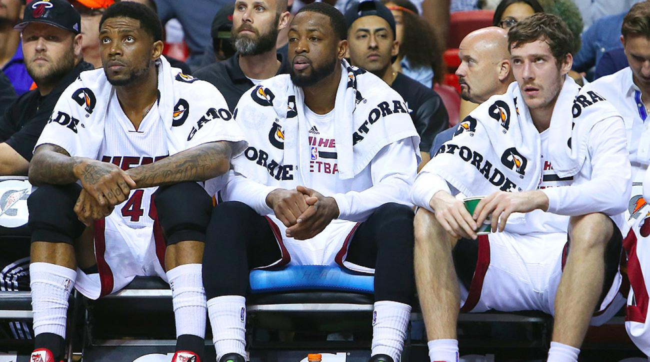 Dwyane Wade, Miami Heat are on brink of elimination from playoff race after falling to the Raptors.