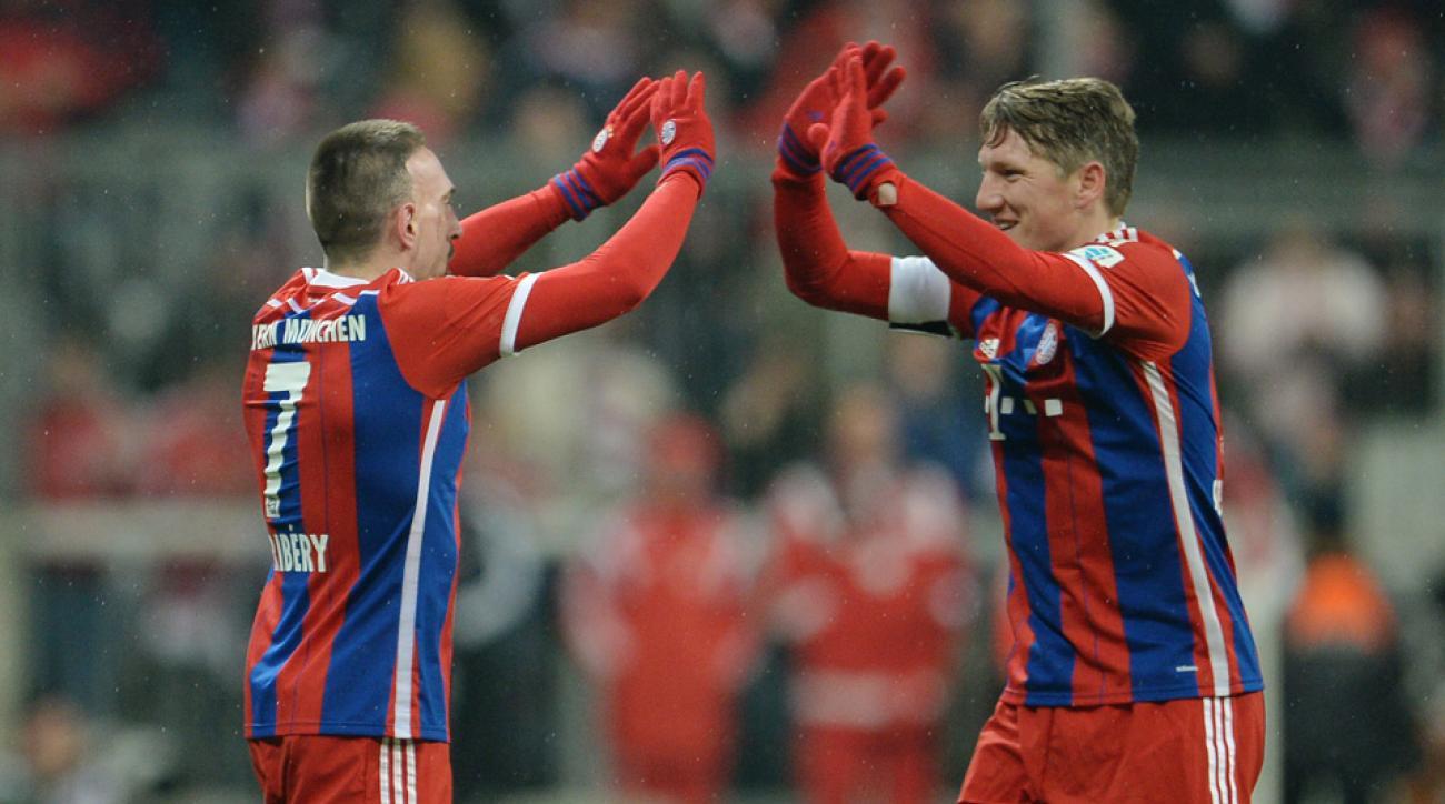 Ribery, Schweinsteiger out for UCL quarterfinal vs. Porto