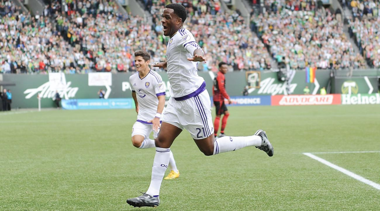 Cyle Larin scored his first-career goal in a win against Portland.