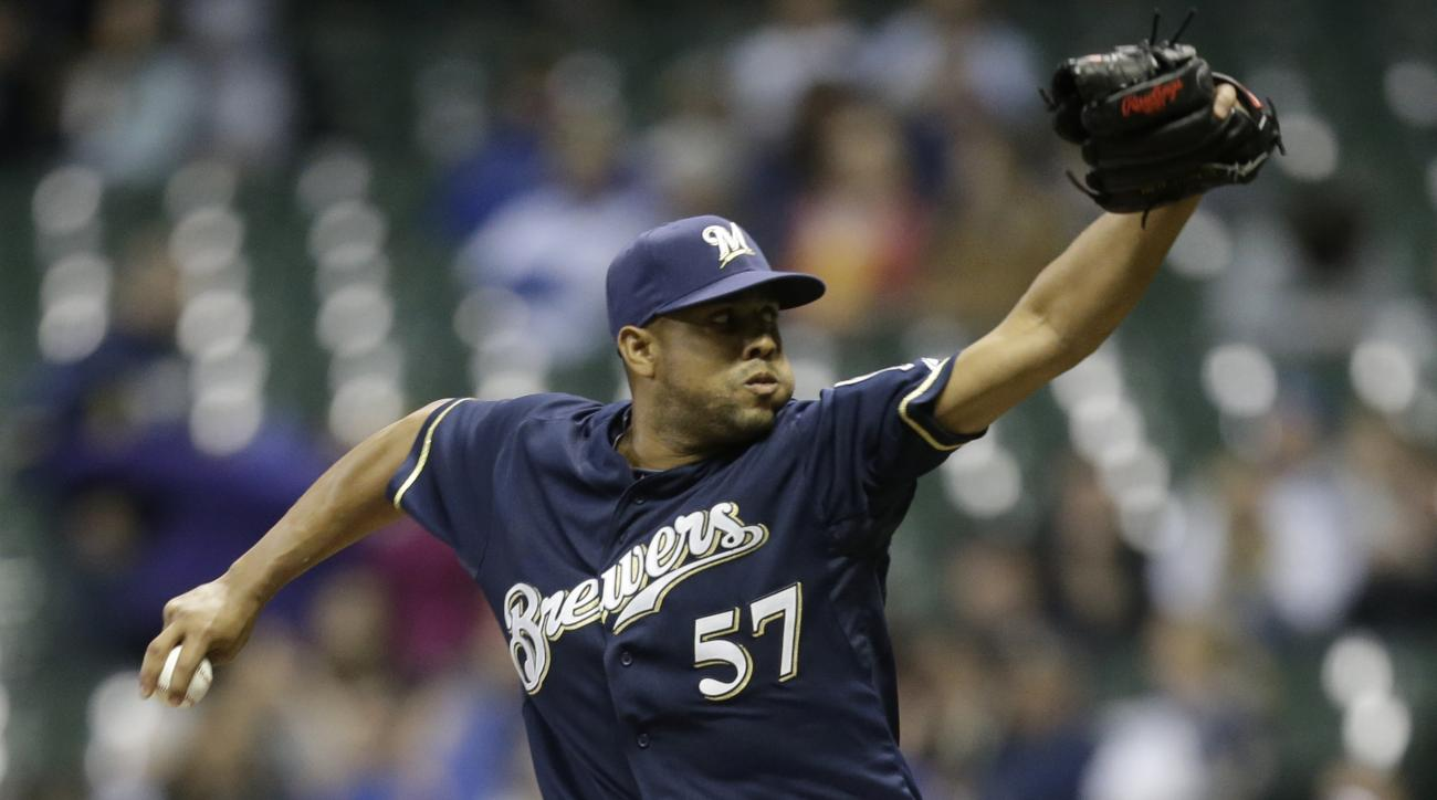 Francisco Rodriguez Milwaukee Brewers catch St. Louis Cardinals