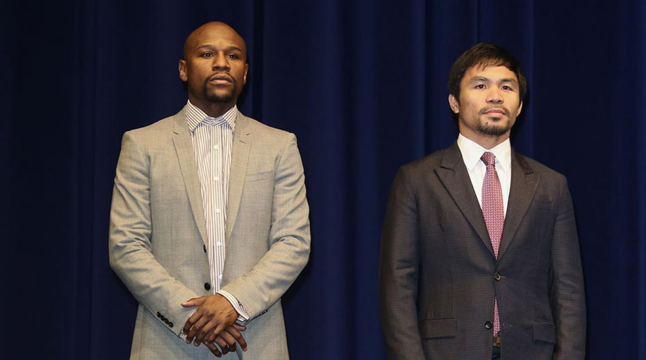 Mayweather-Pacquiao weigh-in