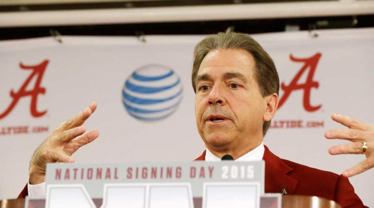 saban shits on reporter asking questions