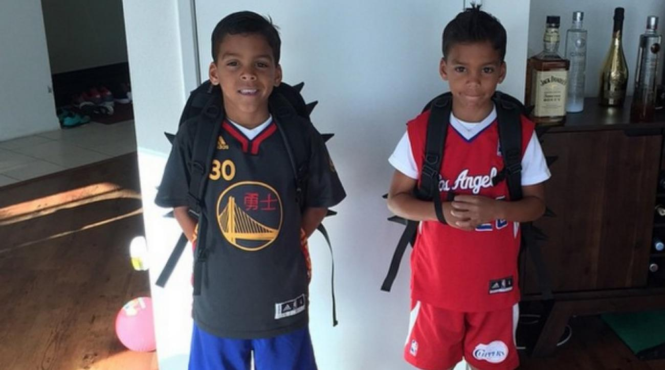 Los Angeles Clippers Matt Barnes's son is a Steph Curry fan