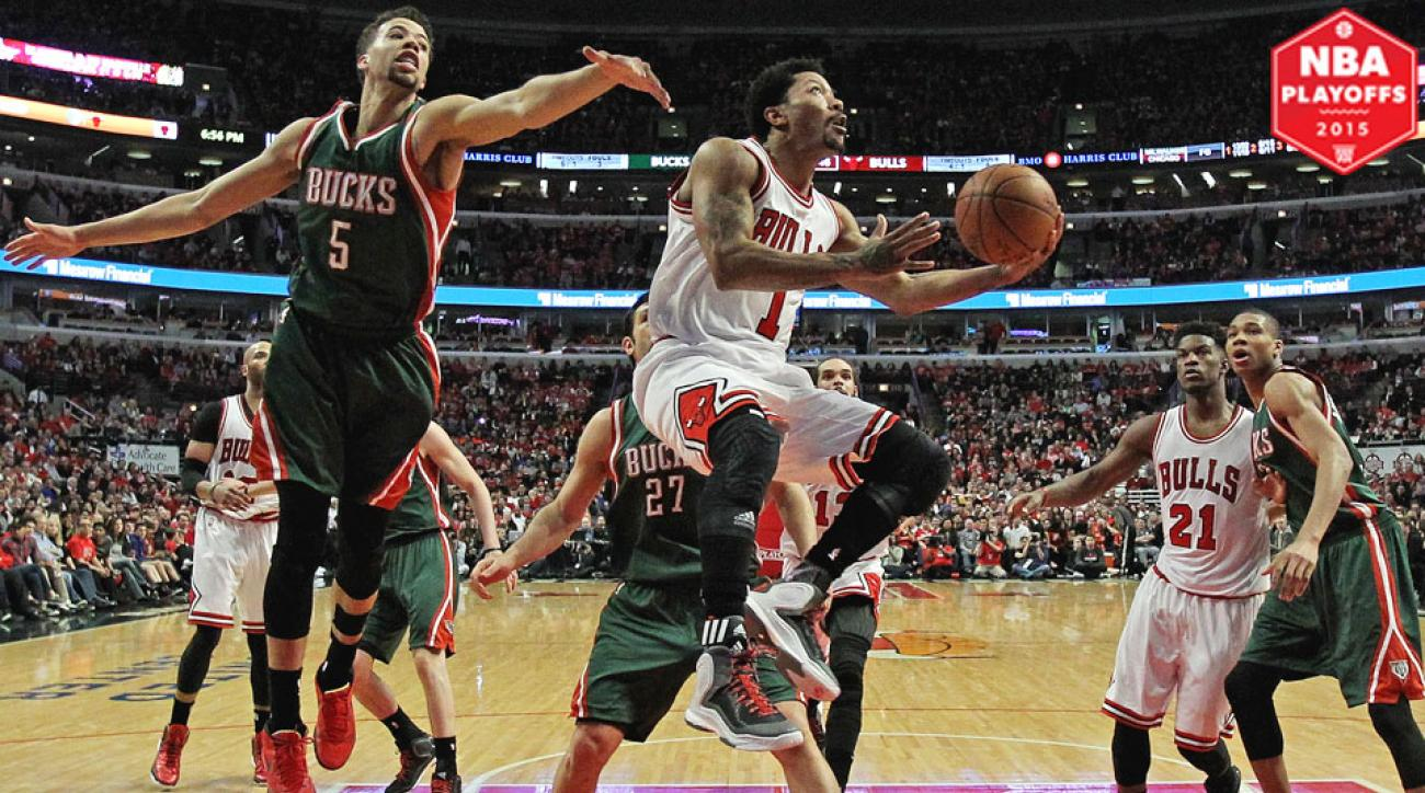 Derrick Rose scored 23 points in the Bulls' Game 1 victory over the Bucks.